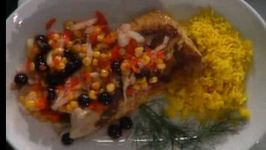 Seared Rockfish with Blueberry Salsa