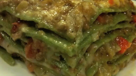 Baked Green Lasagna With Bolognese Sauce- Part 2