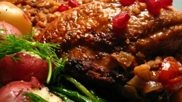 Jewish Honey Roasted Pomegranate Chicken