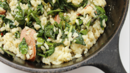 Orzo Pasta with Kale and Italian Sausage