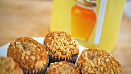 Honey Oat Banana Muffins