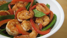 Stir-Fried Shrimp with Snow Peas