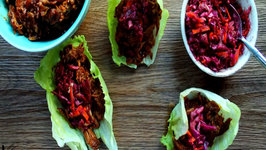BBQ Pulled Pork Wraps with Red Cabbage Slaw