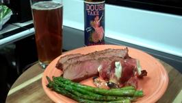 Flank Steak in a Bloody Mary Marinade inspired by Guy Fieri