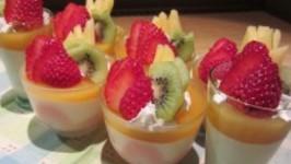 Mango Jelly and Milk Bavarois Parfait