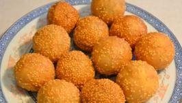 Red Bean Paste Sesame Balls, (Jin deui)