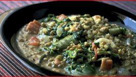 Ginisang Monggo - Filipino Mung Bean Stew with Pork