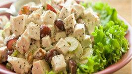 Lemon Poppyseed Garlic Chicken Salad
