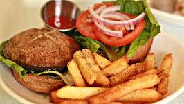 Portobello Pepper Jack Cheeseburger