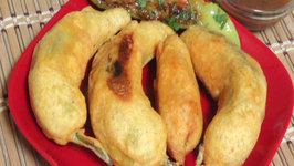 Bharwan Mirchi Pakore- Stuffed Pepper Fritters