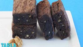 Chocolate Brownie by Tarla Dalal
