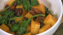 Spiced Butternut Squash with Black Beans Apricots and Olives