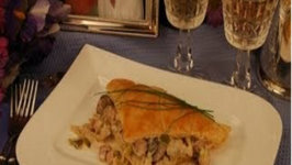 Do You Dare Date Night Dinner  Puff Pastry with Ham and Mushrooms
