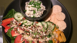 Baba Ganouche with Green Salad