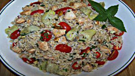 Chicken Pesto Rice Salad