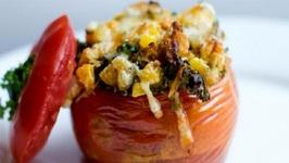 Kay's Zucchini Stuffed Tomatoes