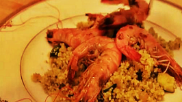Feeling Ugly Garlic Chilli Prawns and Pesto Couscous