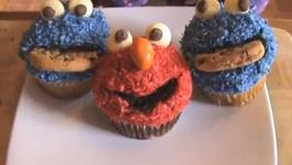 CookieMonster  Elmo Sesame Street Cupcakes