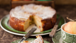 Apple Torte with Cranberries and Raisins