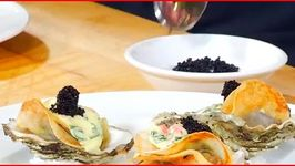 Potato Wrapped Oysters with Crab Bearnaise Sauce