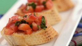 Tomato and Basil Bruschetta by Tarla Dalal