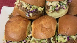 Super Bowl Recipe BBQ Pulled Pork Sliders with Creamy Cole Slaw
