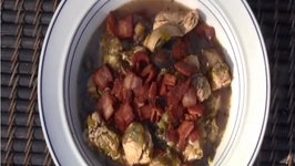 Dutch oven Chicken Stew with Mushrooms and Ale