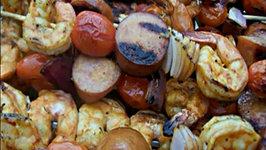 Grilled Marinated Shrimp Skewers