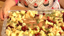 Orange Honey Chicken With Cranberries and Apples