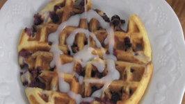 How to make Blueberry Lemon Waffles
