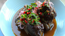 Slow Cooked Beef Short Ribs with Pickled Onions and Chili Gremolata