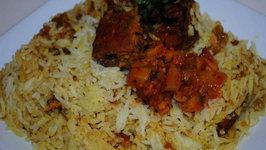 Baked Fish Biriyani Shrimp Biriyani