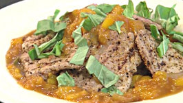 Pork Cutlets with Peach Sauce