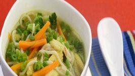 Lemon Grass Vegetable and Noodle Soup by Tarla Dalal