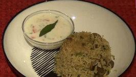 Mushroom Pulao - Indian Flavored Rice Dish