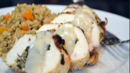 Culinary Carrie Greek Stuffed Chicken Breast