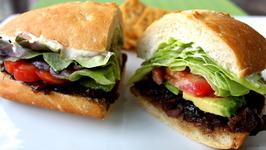 Bacon Jam, Avocado, Lettuce and Tomato Sandwich