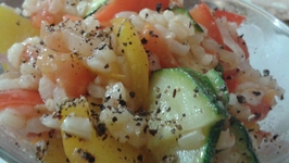 Brown Rice with Stir Fried Vegetables