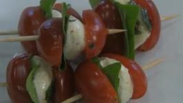 Marinated Mozzarella and Basil Caprese Salad