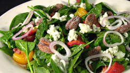Nutritious Spinach Cottage Cheese Cranberry Salad