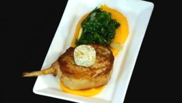 Pork Chop Made With Dorot Herbs
