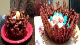 How to Make a Chocolate Pretzel Basket