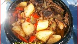 Solar Cooked Colombian Style Beef Stew