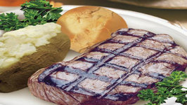 Campfire T-Bone Steaks And Baked Potato