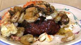 Meaty Alaskan King Crab with Jumbo Shrimp and Flat Iron Steak