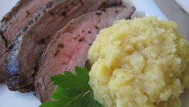 Citrus Flank Steak with Mashed Potatoes