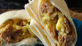 Make Ahead Scrambled Egg and Chorizo Burritos