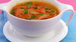 Spicy Stir Fry Soup ( Low Calorie Healthy Soup) by Tarla Dalal