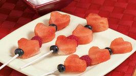 Heart Fruit Kabobs and Raspberry Yogurt Dip Lg Prog