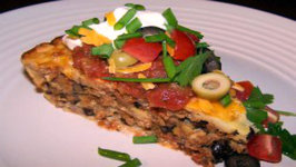 Seven Layer Impossible Taco Pie